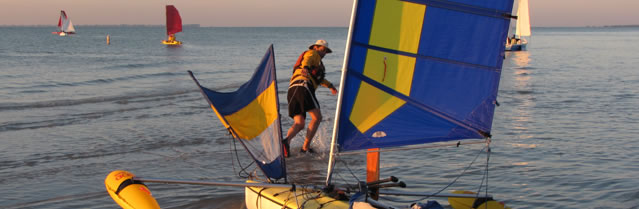 Everglades Challenge with BSD Batwing sails - launching